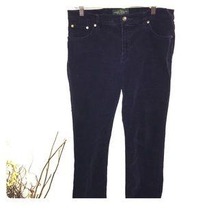 Ralph Lauren Dark Navy Corduroy Pants 12P